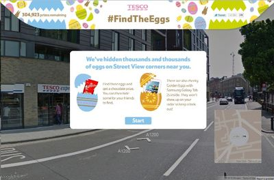 Tesco Find the Eggs