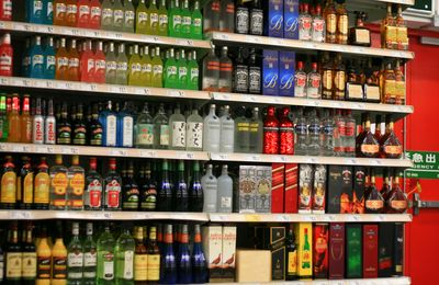 Alcohol shelf