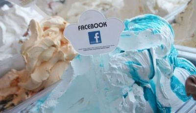 Facebook ice cream logo