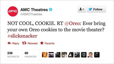 Oreo and AMC theatres disagree on cinema no-food rules