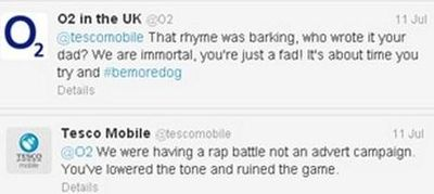 Tesco and O2 rap battle