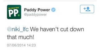 Paddy Power Twitter Response