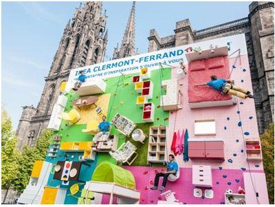 IKEA Climbing billboard
