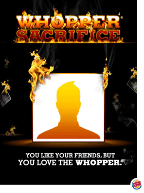 Burger king sacrifice